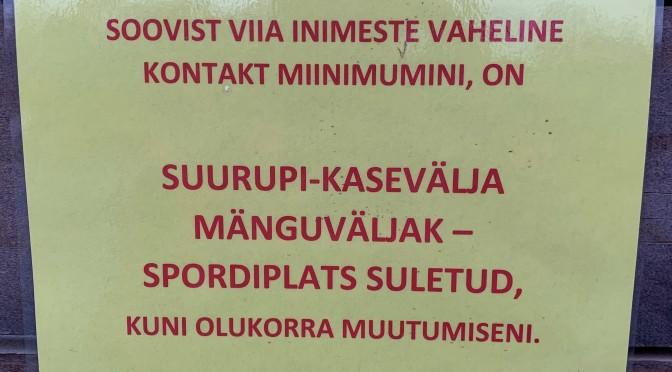 Kasevälja mänguväljak-spordiplats ajutiselt suletud (tänaseks avatud jälle!)